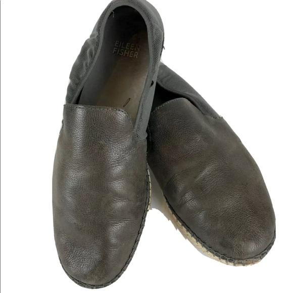 Eileen Fisher Flit Flat Espadrille Shoes 7.5